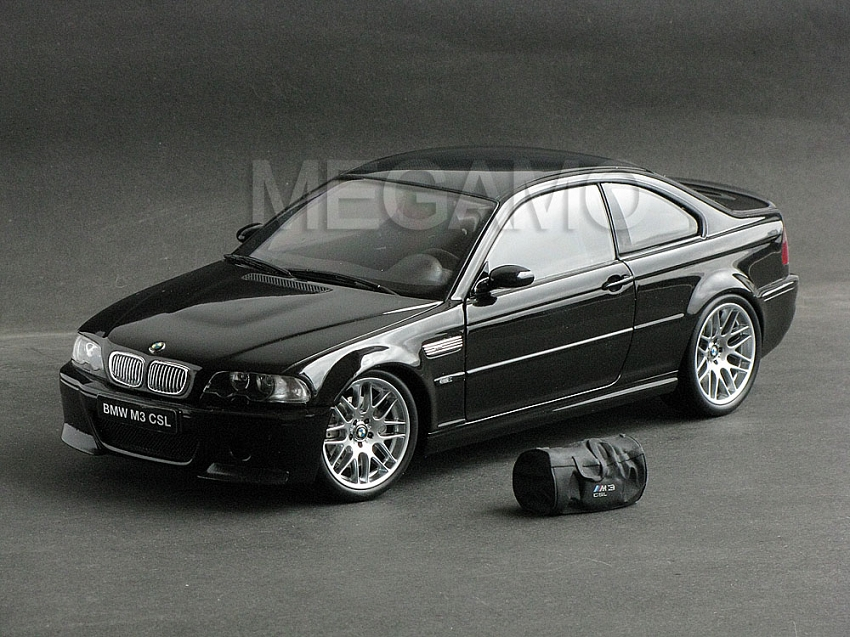 1/18 kyosho bmw e46 m3 csl black with bag bbs wheel