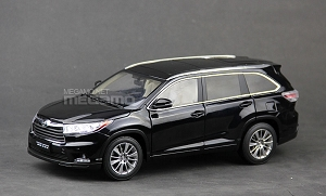 1/18 Toyota 2015 Highlander Dealer Ed 8 Seats Black White Red