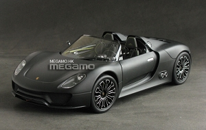 1/18 Minichamps Porsche 918 Spyder 2010 Matt Black Ltd 1002 pcs