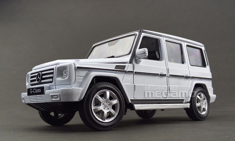 1 24 welly fx mercedes benz g class wagon black white for Mercedes benz g wagon price