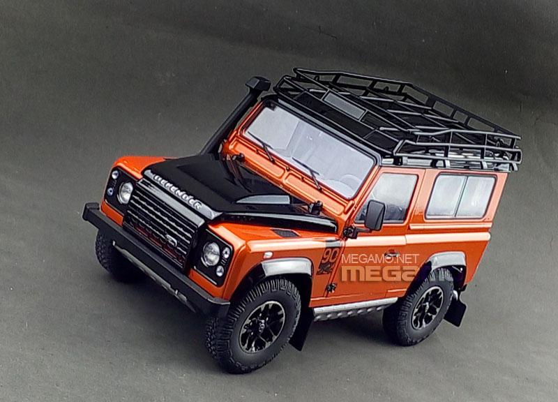 1/18 Kyosho Land Rover Defender 90 D90 Orange Adventure ...