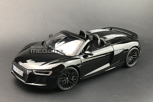 1/18 i-Scale AUDI R8 V10 Spyder Black 2018 Full Open Diecast