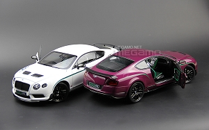 1/18 Almost Real AR Bentley Continental GT3-R 2015 White Purple Diecast Full open