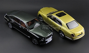 1/18 Almost Real Bentley Mulsanne Speed Green 2 Tone Ltd 1008 pcs Diecast full open