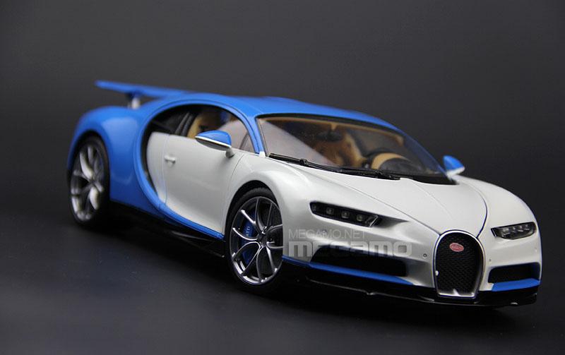 1 18 gt autos gta bugatti chiron white blue diecast open. Black Bedroom Furniture Sets. Home Design Ideas
