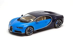 1/18 GT Autos GTA Bugatti Chiron Blue Black, White Blue