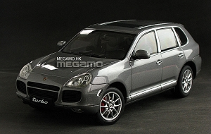 1/18 Autoart Porsche Cayenne Turbo 2006 1st Generation Grey Met Gray Diecast Full Open