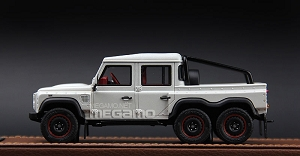 1/43 Land Rover Defender Flying Hundsman 6x6 Matt Grey Gray White Resin Model