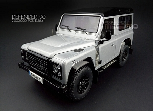 1/18 Almost Real Land Rover D90 Defender 90 2k Pcs Edition 2015 Ltd 1999 pcs Silver