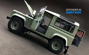 1/18 Kyosho Land Rover Defender 90 D90 Heritage Edition Green / White Roof
