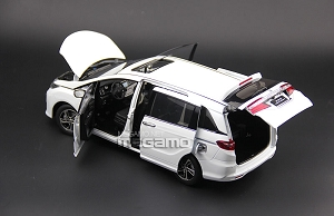 1/18 Honda Odyssey 2015 Asia Version White MPV VAN Diecast Fully Open