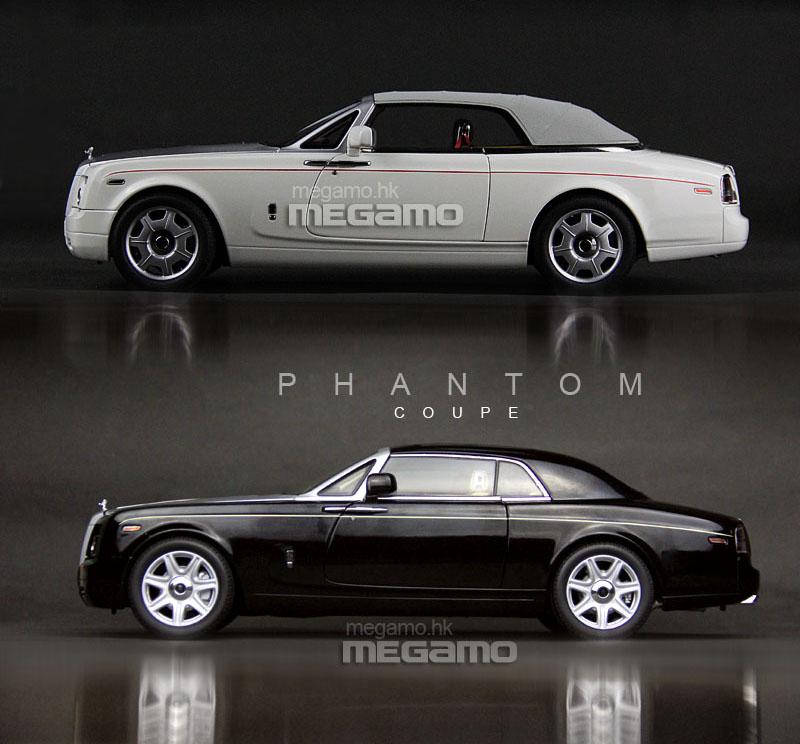 1/18 Kyosho Rolls-Royce Phantom Coupe Black + Drophead