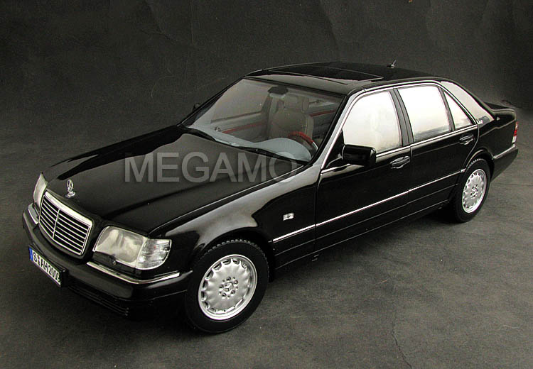 1 18 norev mercedes benz s600 w140 1997 black for 1997 mercedes benz s600