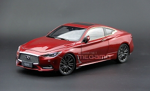 1/18 Paudi Nissan Infiniti Q60 Coupe Red Diecast Full Open