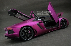 1/18 Welly FX Lamborghini Aventador LP700-4 Purple Black White Orange Pink Carpet Floor