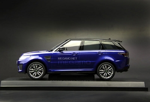 1/18 Kyosho Range Rover Sport SVR Estoril Blue Indus Silver Closed Bodyshell
