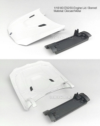 1/18 Kyosho BMW M3 spare parts for e92 e93 turning - Engine Lid Bonnet Hood White