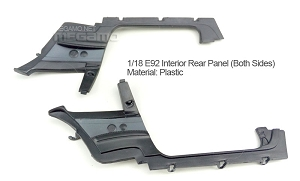 1/18 Kyosho BMW M3 spare parts for e92 e93 turning - Interior Rear Panel Pair