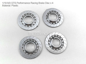 1/18 Kyosho BMW M3 spare parts for e90 e91 e92 e93 turning - GTS Performance Brake Disc x 4