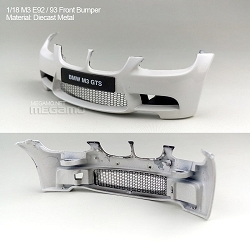 1/18 Kyosho BMW M3 spare parts for e92 e93 turning - Front Diecast Bumper White