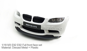 1/18 Kyosho BMW e92 M3 spare parts for e90 e91 e92 e93 turning - Full Front Nose Set White