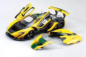 1/18 Almost Real McLaren P1 GTR Geneva Motor Show 2015 Yellow Full Open Diecast Ltd 500