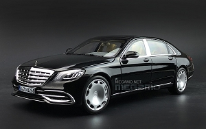 1/18 Norev Mercedes-Maybach S-Class S650 W222 2019 Black Diecast fully open