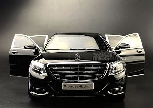 1/18 Almost Real Mercedes-Maybach S-Class S600 W222 2016 Black Diecast fully open