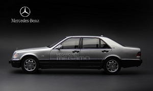 1/18 Mission Model Mercedes-Benz W140 S600 Black Full Open Diecast