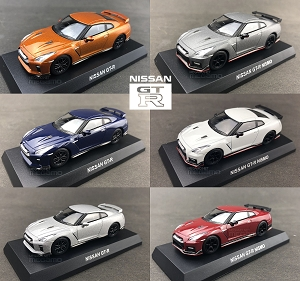 1/64 Kyosho Nissan Skyline GT-R GTR 35 R35 Nismo Diecast Minicar Collection 6 colors Red Blue White Silver Gray Orange