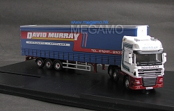 1/76 Oxford DAF truck containler trailer