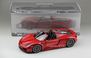 1/18 Minichamps Porsche 918 Sypder 2013 Red Limited 1 / 504