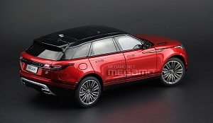 1/18 LCD Range Rover Velar 2018 Red Black Fully Open DIecast Model