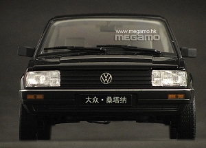 1/18 FX Volkswagen VW Passat B2 Santana 1980 Black White Welly