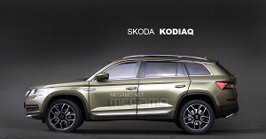 1/18 Skoda All New Kodiaq 2017 Gold 7 Seats SUV SHANGHAI VW Dealer Ed