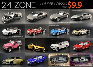 1/24 Welly FX Diecast Model Mercedes-Benz AMG GT R Range Rover Sport Mustang R8 Huracan Jeep Wrangler Bugatti Chiron