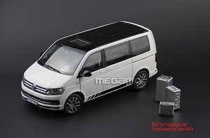 1/18 NZG Volkswagen VW Multivan T6 White Edition 30 Year Full Open Diecast Red Silver