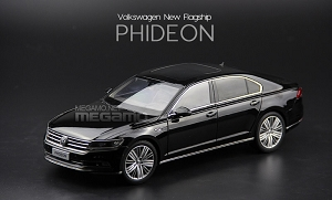 1/18 Shanghai Volkswagen Phideon 2016 Black Brown Silver Dealer Edition Diecast model