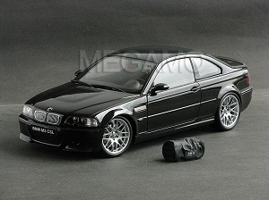 1/18 Kyosho BMW e46 M3 CSL Black with Bag BBS Wheel