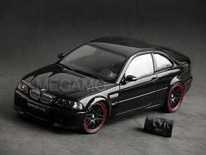 1/18 Kyosho BMW e46 M3 CSL Black with Bag Black Wheel Red Strip ( Paint Rash is discretion )