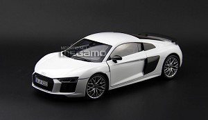 1/18 Audi R8 V10 Plus Coupe Dealer Edition White Blue i-SCALE