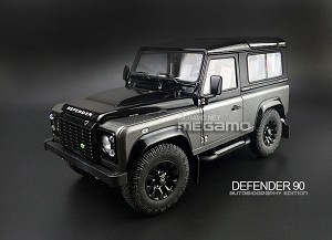 1/18 Kyosho Land Rover Defender 90 D90 Autobiography Edition Matte Corris Grey / Black