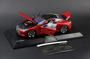 1/18 Lexus LC500h LC500 Red Dealer Edition Almost Real AR OEM Full Open Diecast