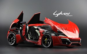 1/18 Autocraft WMOTORS LYKAN HyperSport red Diecast Full Open model