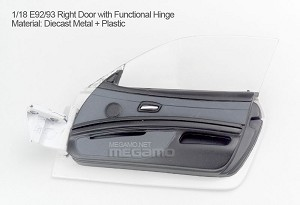 1/18 Kyosho BMW M3 spare parts for e92 e93 turning - Right Door w/ Functional Hinge