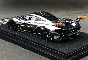 1/43 Almost Real McLaren P1 GTR Chrome and Black Diecast Model Free Shipping