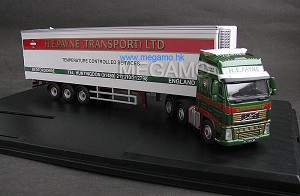 "1/76 Oxford Volvo truck containler trailer ""H.E.PAYNE"" company version"