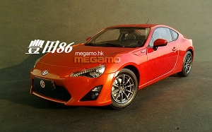 1/18 Toyota GT86 86 2013 Orange CN Dealer Ed