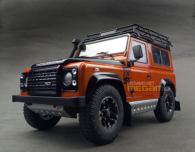 1 18 kyosho land rover defender 90 d90 orange adventure edition. Black Bedroom Furniture Sets. Home Design Ideas