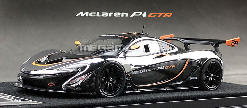 1 43 almost real mclaren p1 gtr chrome and black free shipping ebay